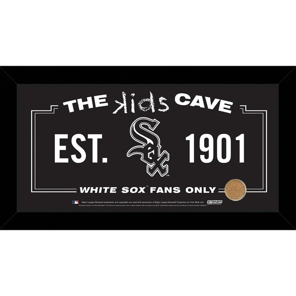Steiner Sports MLB Chicago White Sox 10x20 Kids Cave Sign w/ Game Used Dirt from U.S. Cellular Field