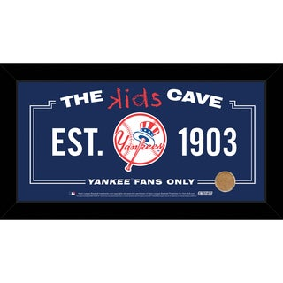 Steiner Sports MLB New York Yankees 10x20 Kids Cave Sign w/ Game Used Dirt from Yankee Stadium