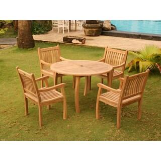 Havenside Home Goodwin 5-piece Outdoor Jarkarta Teak Dining Set
