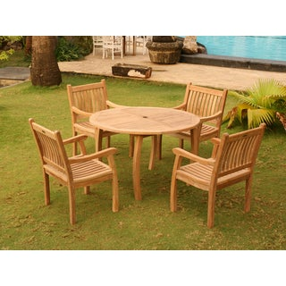 Tortuga Outdoor Jarkarta Teak 5 Piece Dining Set