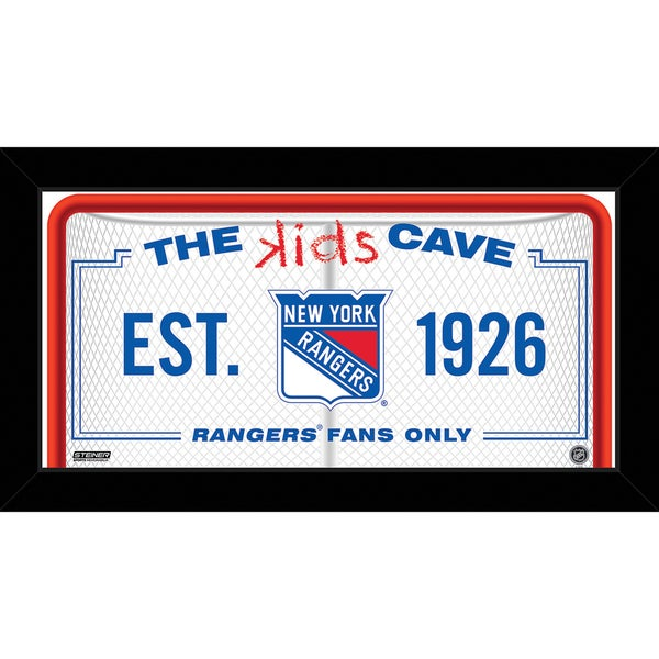 Steiner Sports NHL New York Rangers 10x20 Kids Cave Sign