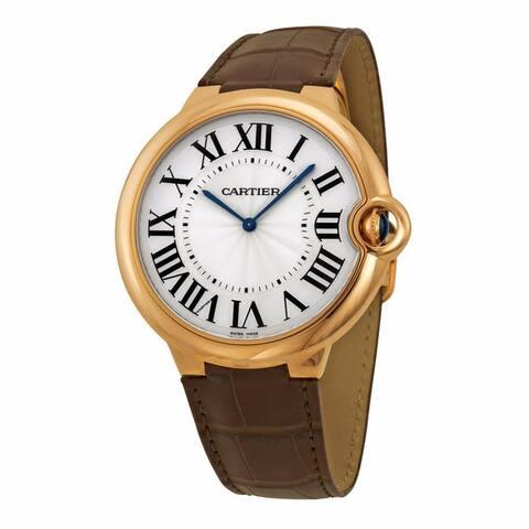 Cartier Men's W6920054 'Ballon Bleu' Brown Leather Watch