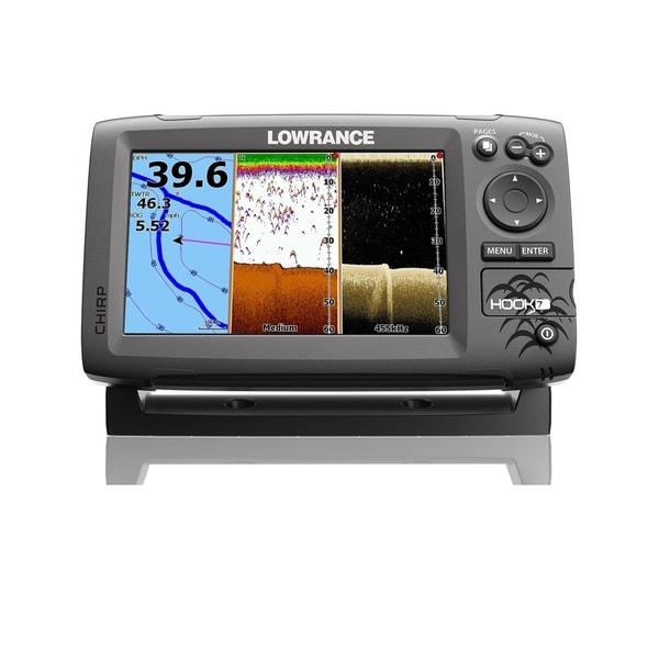 Lowrance Hook-7 Fishfinder Chartplotter-No Transducer Nav+