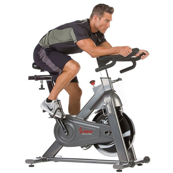 Sunny Health Fitness SF-B1516 Commercial Indoor Cycling Bike - Silver
