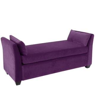 Skyline Furniture Aubergine Velvet Daybed