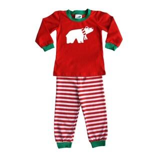 Rocket Bug Holiday Polar Bear Pajama Set for Infants and Toddlers