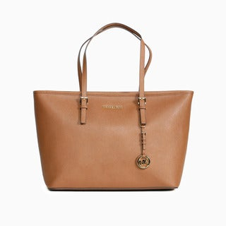 Michael Kors Jet Set Luggage Brown Medium Tote Bag