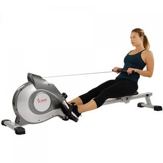 Sunny Health & Fitness SF-RW5515 Magnetic Rowing Machine Rower - Silver