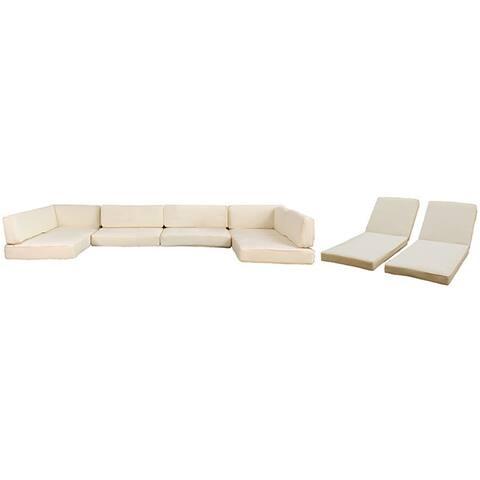 BroyerK 16-Piece Outdoor Sofa Rattan Cushion Cover Set