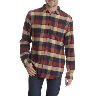 Jachs MFG Co. Men's Plaid Long Sleeve Flannel Collared Shirt