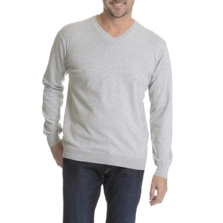 Reed Edward Men's Solid V-Neck Sweater