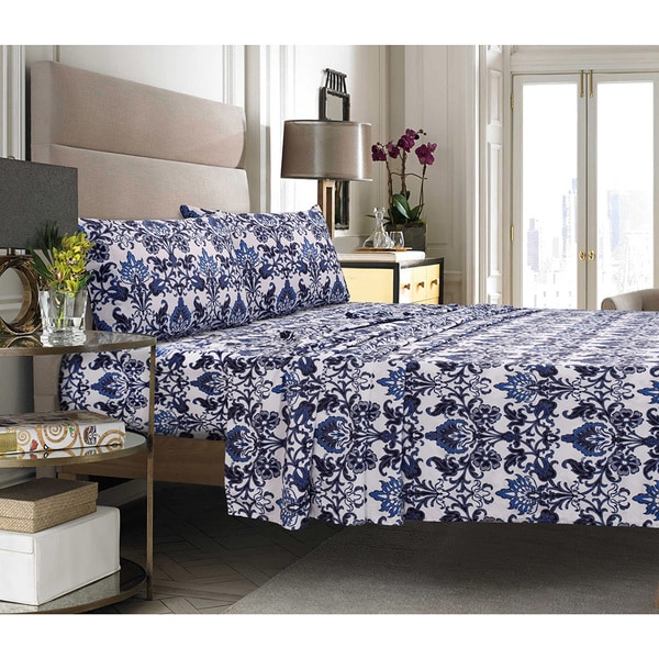 Catalina Printed Egyptian Cotton Percale Pillowcases Set Of 2 Free Shipping On Orders Over 45 10888842