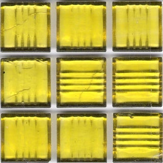 Clear Yellow Glass Brio 3/4-inch Mosaic Tile