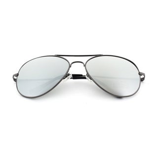 Epic Eyewear Classic Aviator Reflective Mirrored Lens Sunglasses