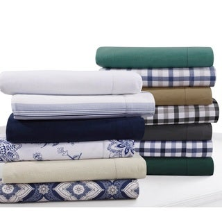 Flannel 200-GSM Solid or Printed Pillowcases (Set of 2) (More options available)