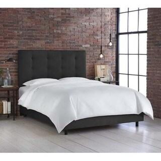 Skyline Furniture Premier Black Button Tufted Bed