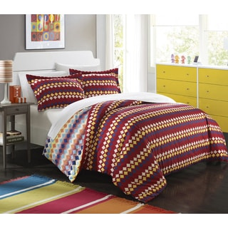 Chic Home Indiana Native Spice Reversible 3-Piece Duvet Cover Set