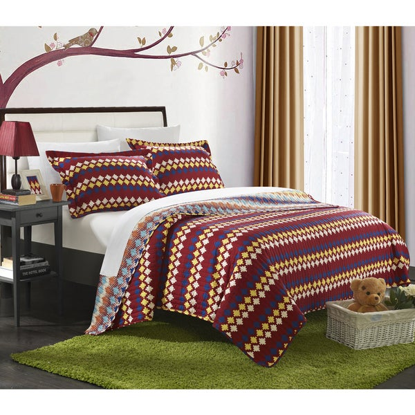 Chic Home Indiana Spice Reversible Quilt Set