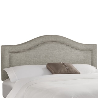 Skyline Furniture Groupie Grey Inset Nail Button Headboard