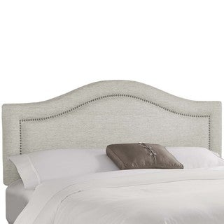 Skyline Furniture Groupie Oyster Inset Nail Button Headboard