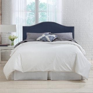 Skyline Furniture Premier Navy Nail Button Headboard