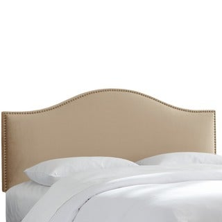 Skyline Furniture Premier Oatmeal Nail Button Headboard