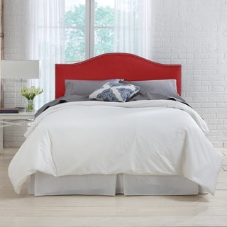 Skyline Furniture Premier Red Nail Button Headboard
