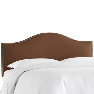 Skyline Furniture Shantung Chocolate Nail Button Headboard
