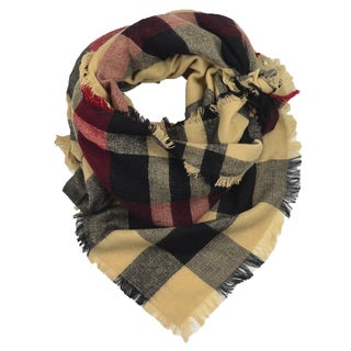 LA77 Camek Plaid Blanket Scarf