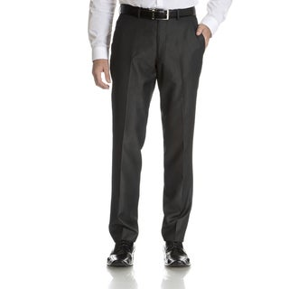 Perry Ellis Men's Charcoal Slim Fit Flat Front Dress Pants