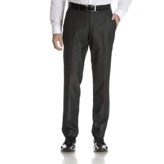 Perry Ellis Men's Charcoal Slim Fit Flat Front Dress Pants|https://ak1.ostkcdn.com/images/products/10888946/P17923851.jpg?impolicy=medium