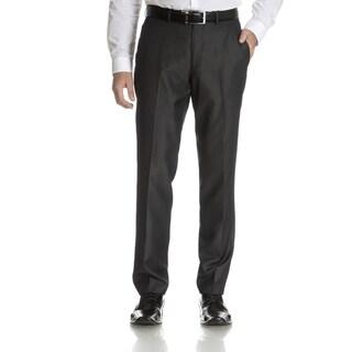 Perry Ellis Men's Charcoal Slim Fit Flat Front Dress Pants