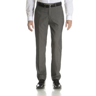 Perry Ellis Men's Grey Slim Fit Flat Front Dress Pants (Option: 32x34)