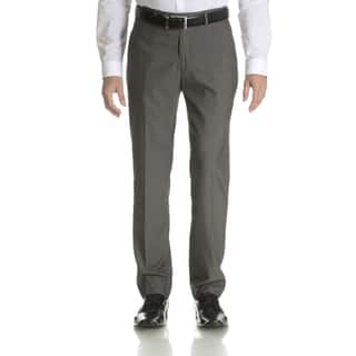 Perry Ellis Men's Grey Slim Fit Flat Front Dress Pants (Option: 32x34)|https://ak1.ostkcdn.com/images/products/10888947/P17923852.jpg?impolicy=medium