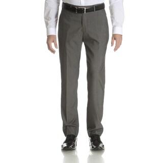 Perry Ellis Men's Grey Slim Fit Flat Front Dress Pants