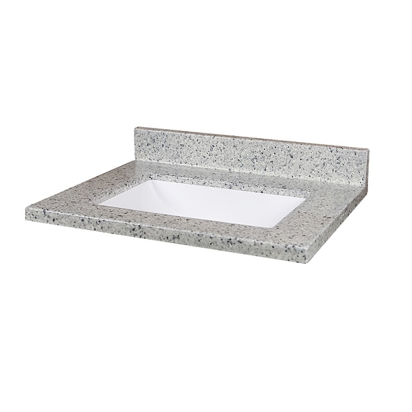 Moonscape 25-inch x 19-inch Cultured Marble Vanity Top - Free Shipping ...