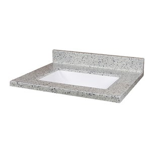 Moonscape 25-inch x 19-inch Cultured Marble Vanity Top