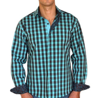 Giorgio Men's Slim Fit Green Plaid Pure Cotton Brato Casual Shirt