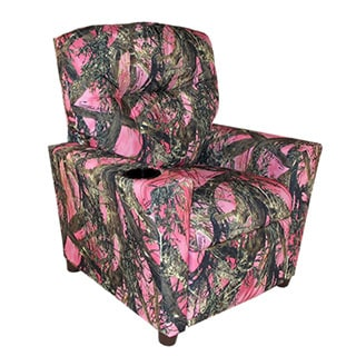 Dozydotes Kids Child Theater Recliner Chair With Cup Holder Pink True Timber Camouflage