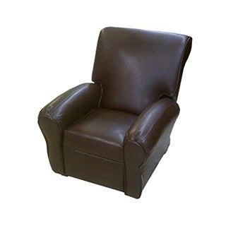 DozyDotes Big Kid's Club Recliner Chair - Pecan Leather-L...