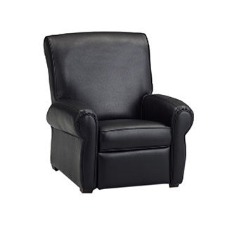 Dozydotes Big Kids Club Recliner Chair   Black Leather Like