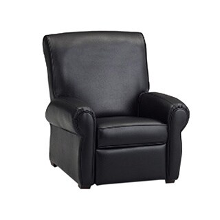 Dozydotes Big Kids Club Recliner Chair - Black Leather Like