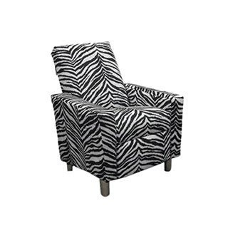 Dozydotes Luxury Style Modern Kids Recliner - Zebra Micro Suede
