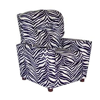Dozydotes Kids Child Theater Recliner Chair with Cup Holder - Zebra