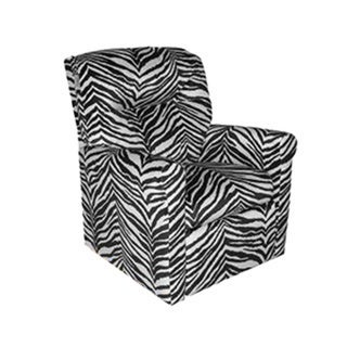 Dozydotes Contemporary Kids Child Rocker Recliner Chair - Zebra