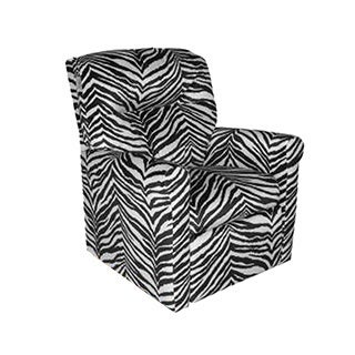 Dozydotes Contemporary Kids Child Rocker Recliner Chair - Zebra