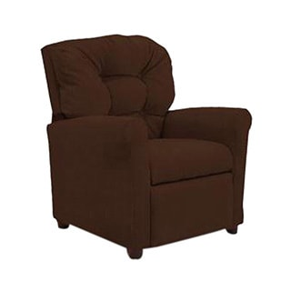 Dozydotes 4 Button Kids Child Recliner Chair - Chocolate Micro Suede