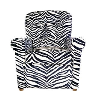 Dozydotes Child Recliner - 4 Button Zebra Micro Suede DZD14080