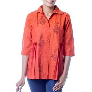 Handmade Cotton 'Jaipur Summer' Tunic (India)
