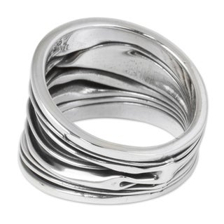 Handmade Sterling Silver 'The River' Ring (Thailand)